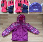 Winterjacke Mütze Handschuhe Gr 122
