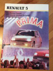 Renault 5 Prospekt zu verkaufen