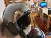 Motorradhelm halboffen Chopper-Style Größe L