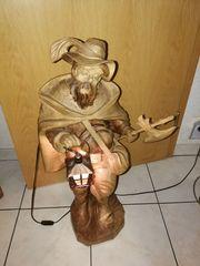 Holzfigur Nachtwächter mit Laterne