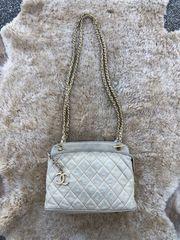 Vintage Authentische Chanel 1980er Leder