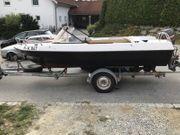 Sportboot Motorboot Angelboot Mit Trailer