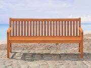 Gartenbank Holz hellbraun 180 cm