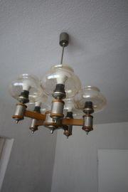 Wohnzimmerlampe mit 5 Glasaufsätzen