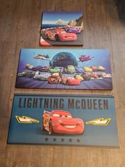 3x Cars Bilder für Kinderzimmer