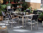 Gartenmöbel Set Granit schwarz poliert