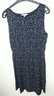 Kleid blau mit Punkten Denim