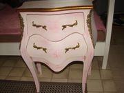 Kommode rosa Barock Design Shabby
