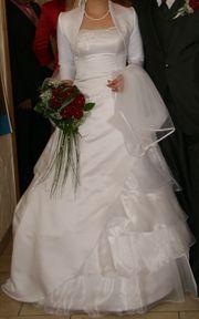 Brautkleid langer und kurzer Schleier