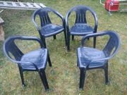 4 Stapelstühle Gartenstühle Kunststoffstühle Campingstühle