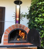 Pizza-Brot-Holzbackofen