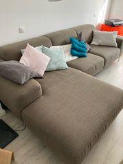 Wohnlandschaft Couch sandfarben