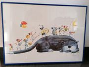 Süßes Katzen Wandbild für KinderZimmer