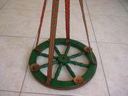 Nostalgischer Adventskranz aus Wagenrad