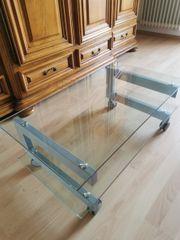 TV Board mit Rollen Glas