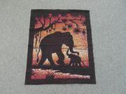 Wandbehang Batik Elefant