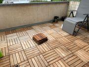 Balkonfließen aus Akazienholz