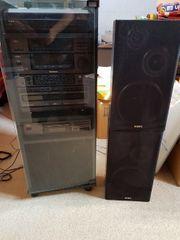 Stereoanlage von AIWA mit Rack