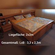Schlafzimmer Bett Schrank Matratze Rost