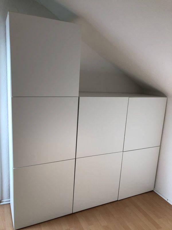 2x Ikea Besta Schrank 60x128x40 Weiss Wie Neu Preis Je Schrank In
