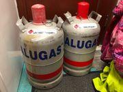 leere ALUGAS Gasflaschen 2x 11kg