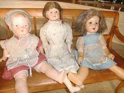 3 antike Puppen