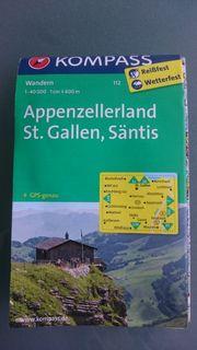 Landkarte Appezellerland St Gallen Säntis