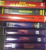 VHS mit seltenen Dokus