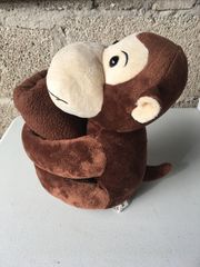 Kuscheldecke mit Stofftier Affe