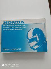 Fahrerhandbuch Honda CBR XX