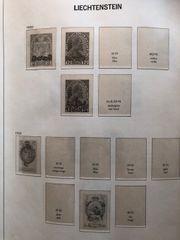 Briefmarken aus Liechtenstein - Devoalbum unvollständig