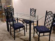 Designer Eßtisch mit 6 Stühlen