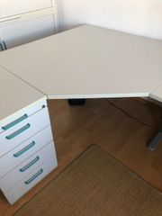 Schreibtisch-Eckkombination hochwertig Hersteller RTR-Büromöbel