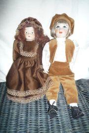 2 Deko-Puppen 1 Pärchen Porzellan