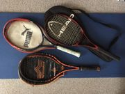 3 Tennisschläger 1 Puma Boris