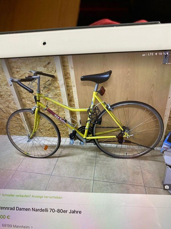 Rennrad Damen Nardelli 70-80er Jahre