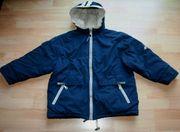 Gefütterte blaue Winter-Jacke - Größe 140 -