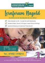 Nachhilfe für Grundschüler in Nagold