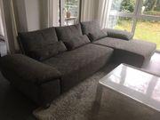 Ecksofa Couch grau meliert Marke
