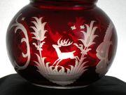 Sehr schöne Egermann Rubinglas Karaffe