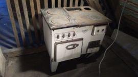 Küchenherde, Grill, Mikrowelle - Emaille Herd Holz Elektro BBC