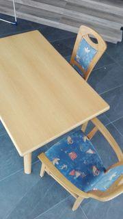 2 Stühle ohne Armlehnen Eiche