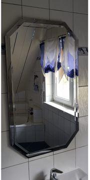 Badezimmer-Spiegel 8-eckig 2 Stück