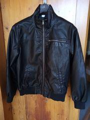 Lederjacke schwarz Gr 164 sieht