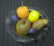 Obstschale mit Obst aus Beton