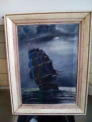 Zu verkaufen altes gemälde Segelschiff