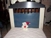 Kinderbett 70x140cm blau Holzbett