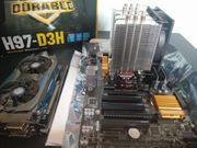 Mainboard CPU Ram Grafikkarte Set