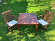 Teak Gartenmöbel Tisch mit 2