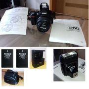 Nikon D60 SLR-Digitalkamera TOP ZUSTAND